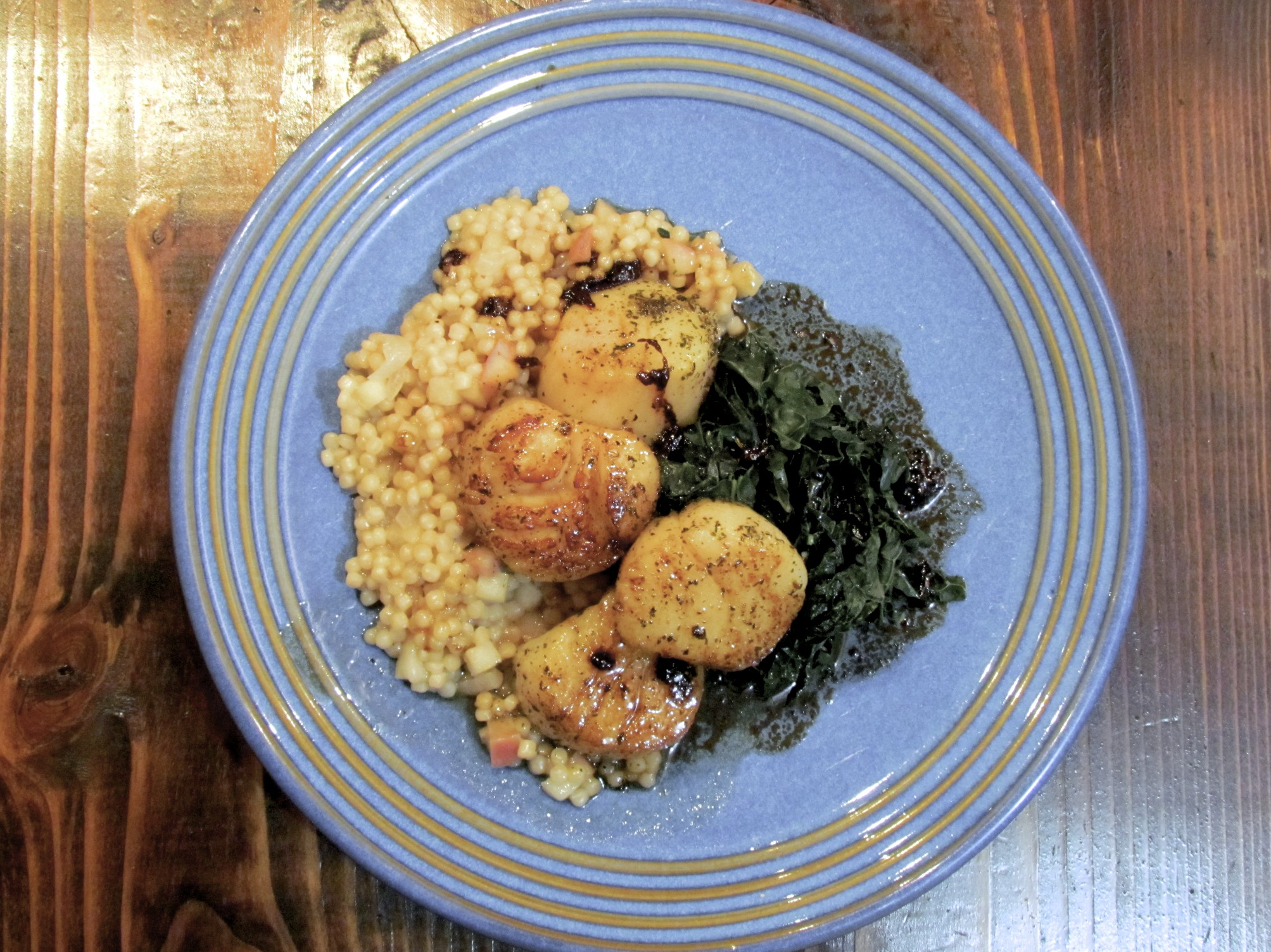 seared scallops with israeli couscous recipes dishmaps seared scallops ...