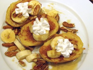 Banana, Pecan, and Maple French Toast